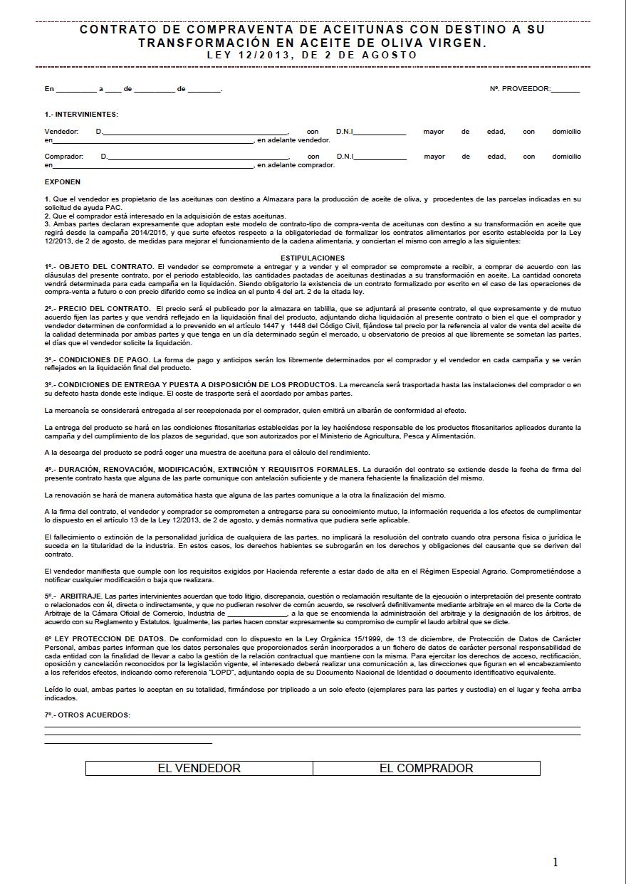 Modelo De Contrato Privado 94 Compra